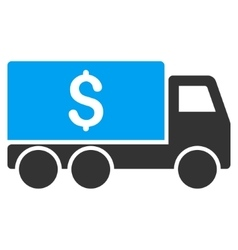 Money Delivery Flat Icon vector image