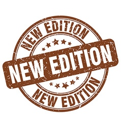 New edition brown grunge round vintage rubber vector
