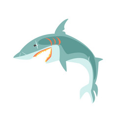 Reef shark showing the mouth and teeth cartoon vector
