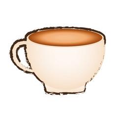 Sketch cup coffee porcelain design vector