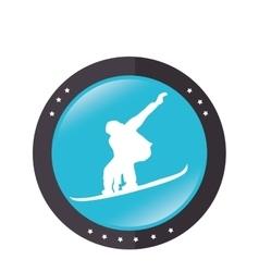 Ski sport emblem icon vector