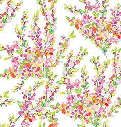 Spring or summer seamless floral background vector image vector image