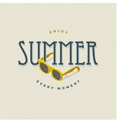 Summer vintage sign with sunglasses vector