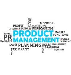 Word cloud product management vector