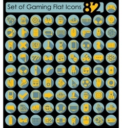 Set of game icons vector