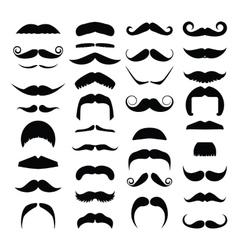 Big set of hipster mustache vector