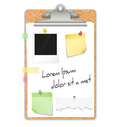 Clipboard With Paper Sheets Design vector image
