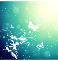 Butterflies Sunny Background vector image