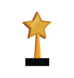Star trophy win prize vector