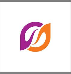Circle beauty abstract purple logo vector