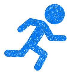 running child grunge icon vector image