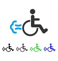 Patient movement flat icon vector