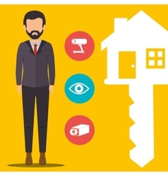 Real estate business and profits vector