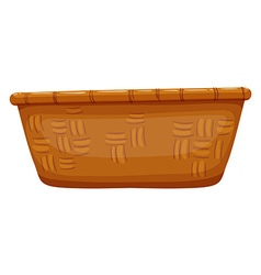 Empty basket on white vector
