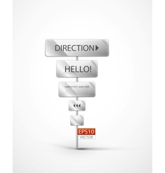 post with directions and messages vector image