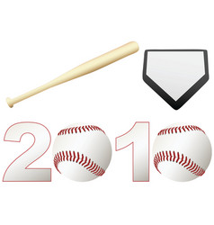 Baseball 2010 season vector