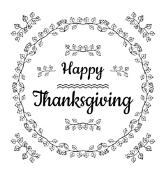 Happy Thanksgiving card design vector image
