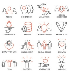 Altruism and benevolence icons - 2 vector