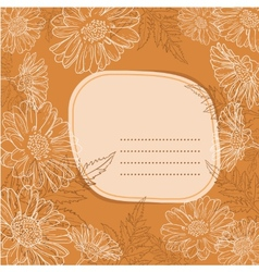 Background with daisy flowers vector image vector image