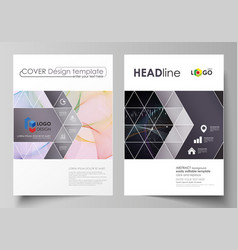 Business templates for brochure flyer annual vector