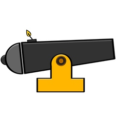 Cartoon cannon vector image vector image