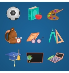 Cartoon Education Icon Set vector image vector image