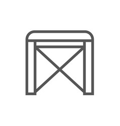 chair isolated icon in linear style vector image