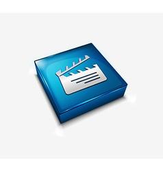 Clapper board web icon vector