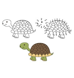 Coloring and dot to dot educational game vector image