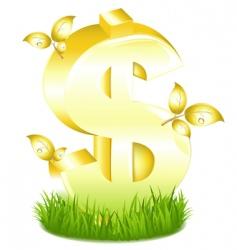 dollar symbol vector image