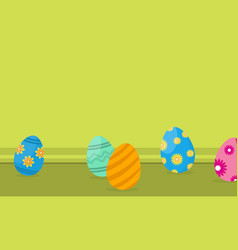 easter egg on landscape backgrounds vector image vector image