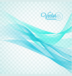 elegant flowing blue wave design on transparent vector image vector image