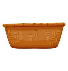 Empty basket on white vector image