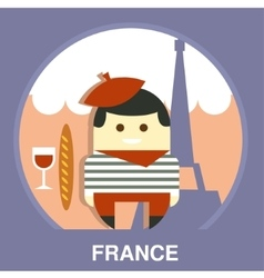 France resident on traditional background vector