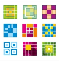 Geometric cube square shapes for logo vector image vector image