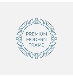 Geometric frame in mono line style vector