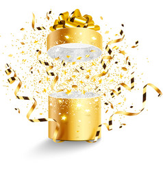 Golden gift isolated vector