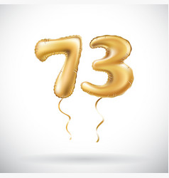 golden number 73 seventy three metallic balloon vector image vector image
