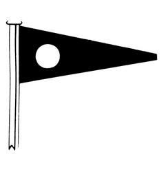 International code flag for the letter d vintage vector