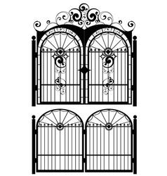 Iron gate silhouette3 vector