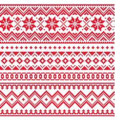 lapland seamless winter pattern sami art vector image vector image