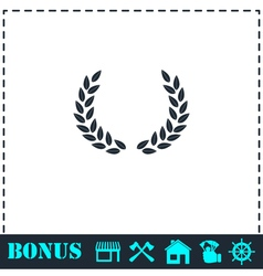 Laurel wreath icon flat vector image