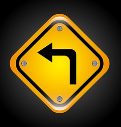 left turn design vector image
