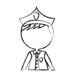 man police officer avatar character vector image vector image