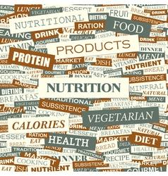 NUTRITION vector image