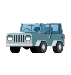 offroad suv car icon vector image