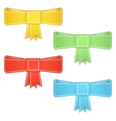 Origami Bows vector image vector image