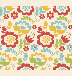 Retro style summer flower seamless pattern in vector