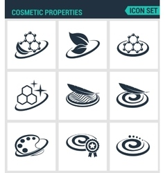 Set of modern icons Cosmetic properties vector image