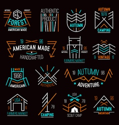 Set of retro vintage badges vector